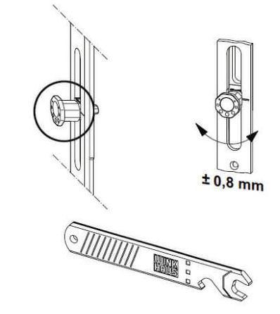 winkhaus verstellschl ssel hv 11 zum anpassen der pilzkopfzapfen. Black Bedroom Furniture Sets. Home Design Ideas