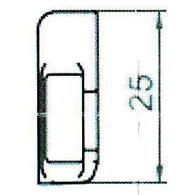 Sicherheitsschließblech SBS.H.9-25 WK2 LS/RS