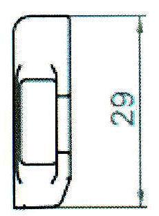 Sicherheitsschließblech SBS.H.9-29 WK2 LS/RS