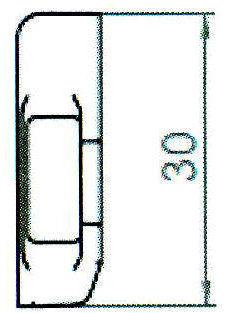 Sicherheitsschließblech SBS.H.9-30 WK2 LS/RS