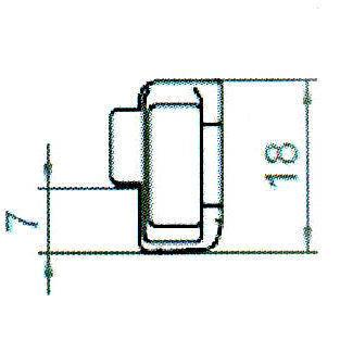 Sicherheitsschließblech SBS.H.9-6-8 WK2 LS/RS