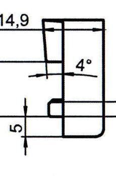 Sicherheitsschließblech SBS.K.28