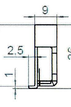 Sicherheitsschließblech SBS.K.9/B