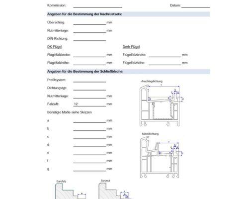 Checkliste Schließbleche bestimmen Pilzkopfverriegelung